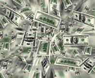 De explosie van het geld Stock Afbeeldingen