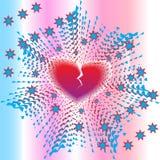 De Explosie van het hart Royalty-vrije Stock Foto