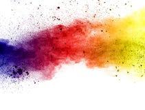 De explosie van het kleurenpoeder royalty-vrije stock afbeeldingen