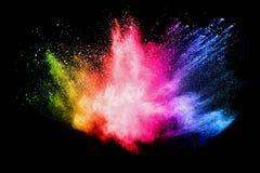 De explosie van het kleurenpoeder royalty-vrije stock foto