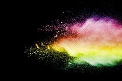 De explosie van het kleurenpoeder stock foto