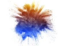 De explosie van het kleurenpoeder op witte achtergrond royalty-vrije stock foto's
