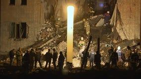 De explosie van het nachtgas stock footage