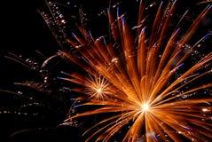 De Explosie van het vuurwerk stock foto's