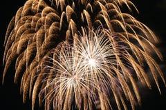 De Explosie van het vuurwerk Stock Afbeeldingen