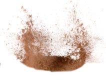 De explosie van het zand stock fotografie