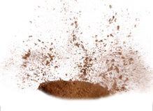 De Explosie van het zand stock foto's