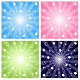 De explosie van sterren royalty-vrije illustratie