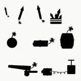de explosiemiddelen van de raketbom Royalty-vrije Stock Foto