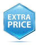 De extra blauwe hexagon knoop van het Prijskristal stock illustratie
