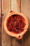 De extra hete rode koorden van de Spaanse peperpeper, draden Royalty-vrije Stock Afbeeldingen