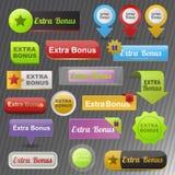 De extra vector van bonusbanners vector illustratie