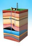 De extractie van de olie Royalty-vrije Stock Foto's