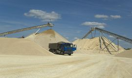 De extractieplaats van het zand Royalty-vrije Stock Fotografie