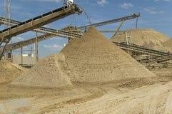 De extractieplaats van het zand Royalty-vrije Stock Afbeeldingen