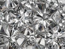De de extreme close-up en caleidoscoop van de diamantstructuur Stock Foto