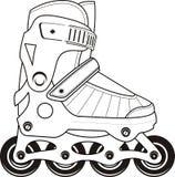 De extreme Rolschaatsen van Sporten - contour Stock Afbeeldingen
