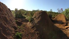 De extreme Sprong van BMX 360 stock footage