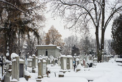 De extreme winter in Europa Royalty-vrije Stock Foto's