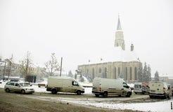 De extreme winter in Europa Stock Afbeeldingen