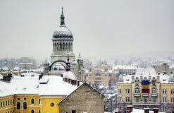 De extreme winter in Europa Royalty-vrije Stock Afbeelding