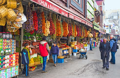 De färgrika stallsna Royaltyfri Foto