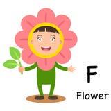De f-Bloem van de alfabetbrief vector illustratie