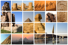 De fabelachtige collage van Egypte Stock Fotografie