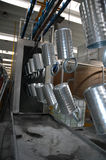 In de fabriek - lijn met staalproducten Royalty-vrije Stock Foto