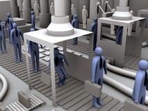 De fabriek van de arbeider #2 stock illustratie