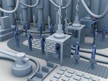 De fabriek van de arbeider Stock Afbeelding