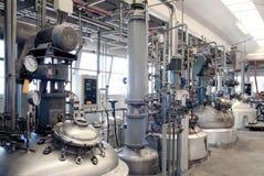 De fabriek van de chemie Stock Afbeeldingen