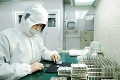 De fabriek van de elektronika Stock Afbeeldingen