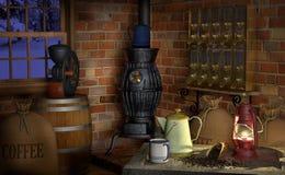 De Fabriek van de koffie royalty-vrije illustratie