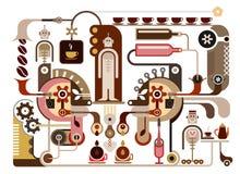 De Fabriek van de koffie Stock Afbeelding