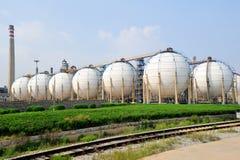 De fabriek van de olie Stock Foto's
