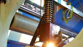 De fabriek van de transportbandproductie stock footage