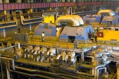 De fabriek van de turbine Stock Afbeeldingen