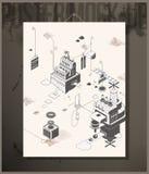 De Fabriek van het afficheverhaal Stock Afbeelding