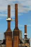De fabriek van het aluminium Stock Afbeeldingen