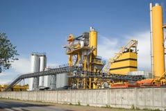 De fabriek van het asfalt stock fotografie