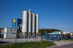 De fabriek van het cement Stock Foto's