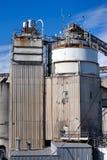 De Fabriek van het cement stock afbeelding