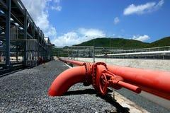 De fabriek van het gas Stock Foto's