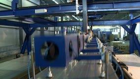 De fabrieks binnenlandse mening van het sandwichpaneel stock video