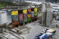 De fabriekskunstwerk van de cementbouw Stock Afbeelding
