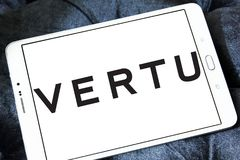 De fabrikantenembleem van Vertu mobiel telefoons Stock Foto's