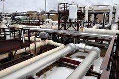 De faciliteit van de het zandpomp van de olie Stock Afbeelding