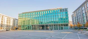 De Factoring van financiële Instellingssud/Sud die in vierkante Pariser Platz, Stuttgart huren Royalty-vrije Stock Fotografie