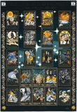 DE FAERÖER - 2001: toont reeks Noordse Mythen en Legenden over Licht en Duisternis Royalty-vrije Stock Foto